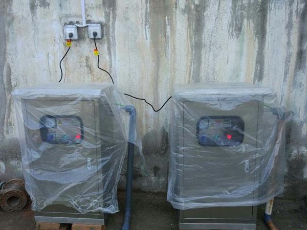水箱消毒杀菌使用中